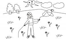 Owieczka złapana na lasso małej Uli