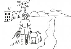 Piotruś i jego narzędzia do wspinaczki