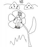 Dziewczynka na kwiatku