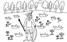 Leśniczy na polowaniu
