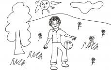 Adaś żongluje piłką