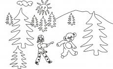 Miś idzie do lasu