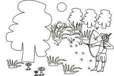 Leśniczy poluje na zwierzynę