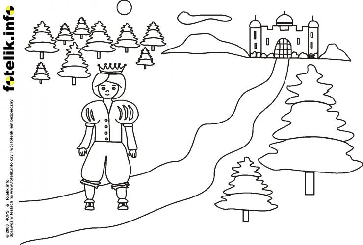 Książe podąża do zamku