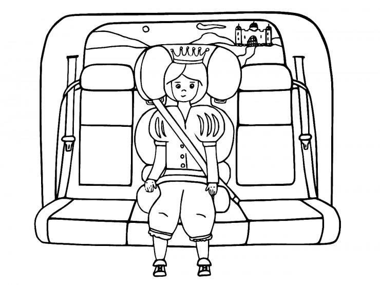 Królewicz jedzie na bal w fotelku