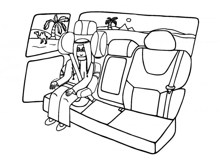 Mały arab w fotelku