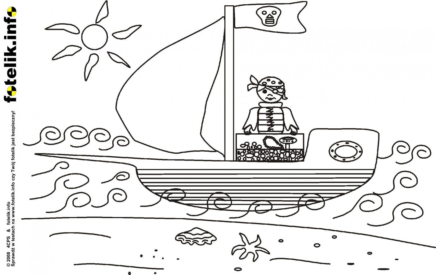 pirat szuka skarbu pirat opuszcza wysp skarb na statku pirackim